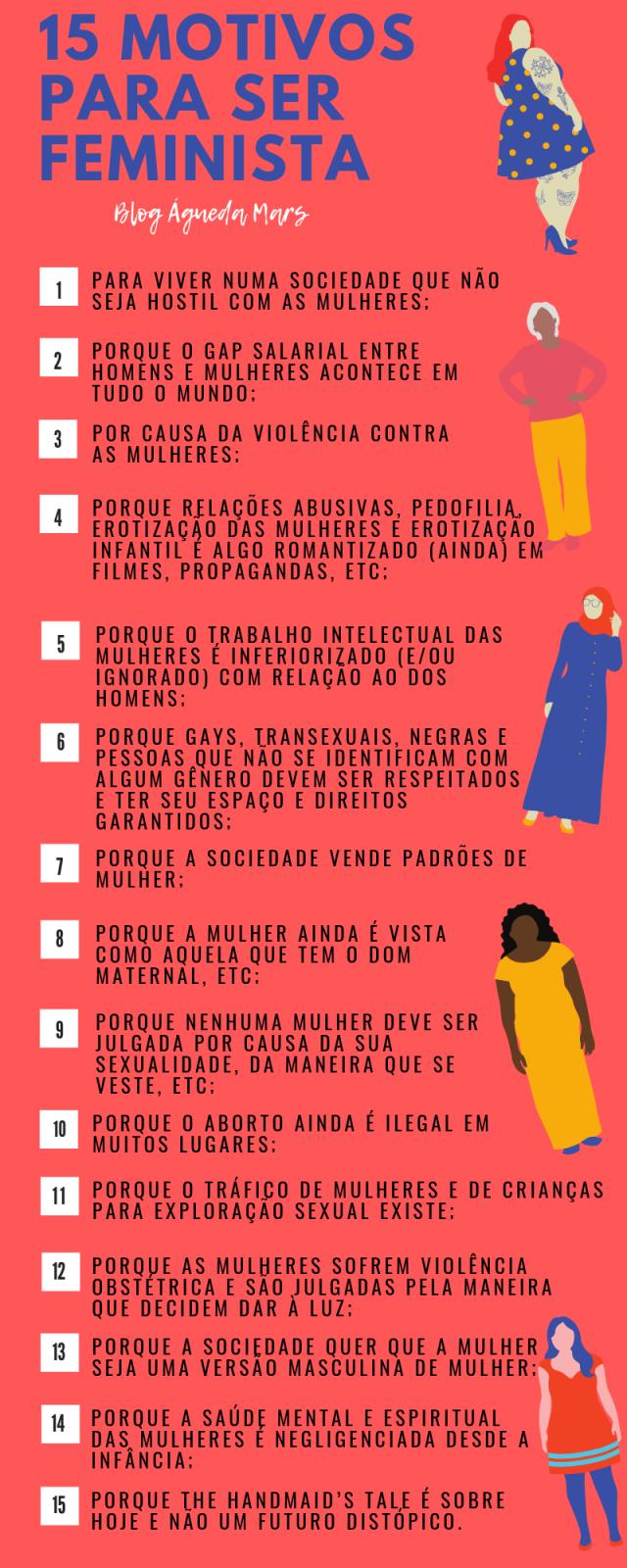 15 MOTIVOS PARA SER FEMINISTA