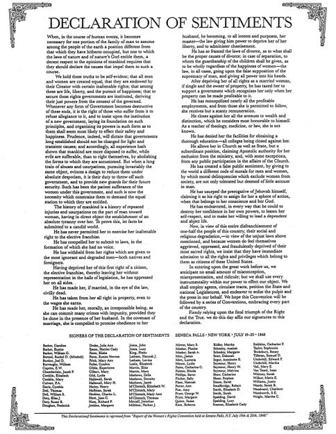 Declaration of Sentiments